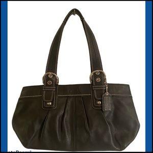 NEVER USED COACH BLACK LEATHER BAG F1058-F13732